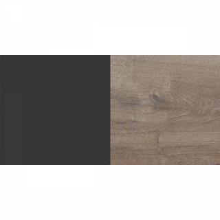 Lit THALIA 160*200cm avec 2 chevets lave/châtaigne