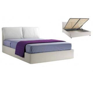 Lit coffre TESEO haut de gamme avec tête de lit, couchage 160*200 cm