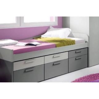 lit compact IRIS avec 6 tiroirs couchage 90 x 190