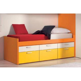 lit compact MILLO avec 6 tiroirs couchage 90 x 190