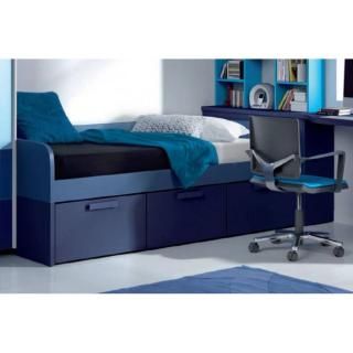 lit compact WILLO avec 3 tiroirs couchage 90 x 190