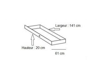 Lit design DELSON avec tiroirs 180 x 200 cm chêne vieilli graphite