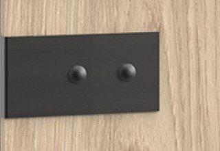 Lit style industriel VERNON 140 x 200 cm pin argenté vieilli et graphite