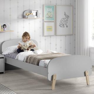 lit infini gris style scandinave couchage 90 x 200cm - Lit Scandinave Enfant