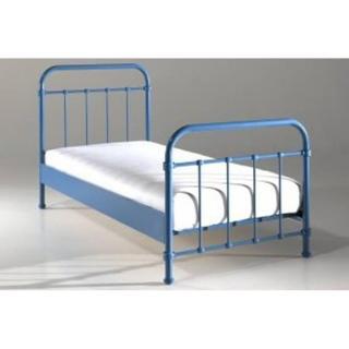 Lit simple ENI acier bleu couchage 90 x 200