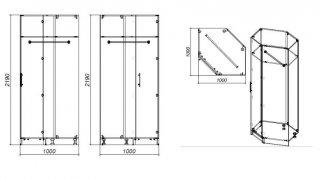 Composition lit escamotable blanc mat DYNAMO SOFA canapé accoudoirs blanc mat et gris 2 colonnes + angle 140*200