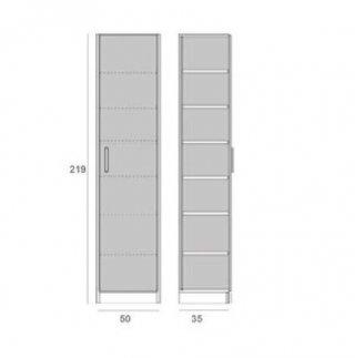 Composition lit escamotable blanc mat DYNAMO SOFA canapé gris Couchage 140 x 200 cm colonne rangement