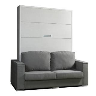 Armoire lit escamotable LYON canapé intégré couchage  140*200cm PROFONDEUR 58CM