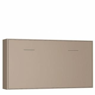 Armoire lit horizontale escamotable STRADA-V2 taupe mat couchage 90*200 cm.