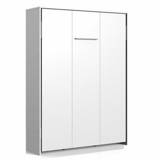 Lit escamotable VANIER blanc mat couchage 140 x 200 cm