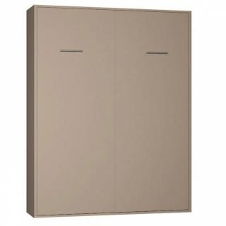 Armoire lit escamotable SMART-V2 taupe mat 160*200 cm.