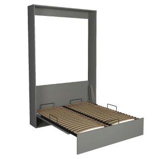 Lit escamotable STUDIO gris graphite mat Couchage 140*200 cm Ouverture assistée et pied automatique