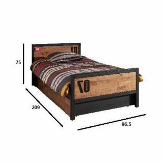 lits gigognes chambre literie lit gigogne alex en pin massif inside75. Black Bedroom Furniture Sets. Home Design Ideas