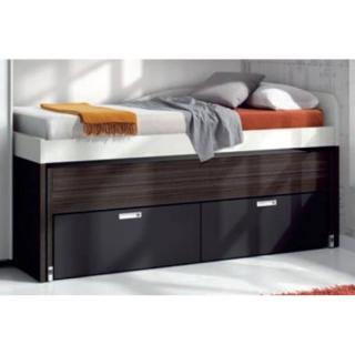 lit gigogne compact SAMY avec 2 tiroirs couchage 90 x 190
