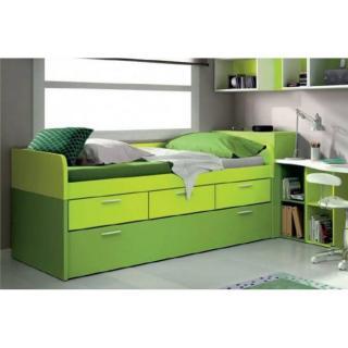 lit gigogne MILANO avec 3 tiroirs et 2 couchages 90 x 190