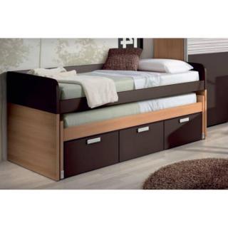 lit gigogne MISTER avec module 3 tiroirs couchage 90 x 190