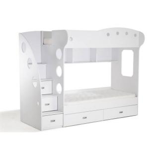 Lit mezzanine superposé MAÏA blanc