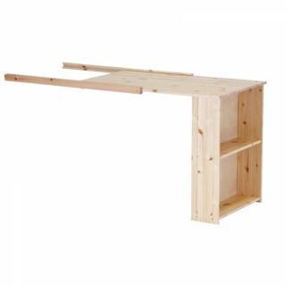 lits chambre literie lit mi haut flexa avec bureau en pin vernis naturel couchage 90 x 200. Black Bedroom Furniture Sets. Home Design Ideas