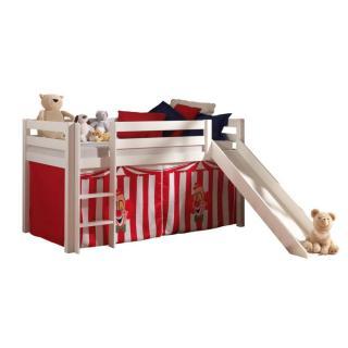 Lits chambre literie lit mi haut avec toboggan pluton - Tente de lit mi hauteur ...