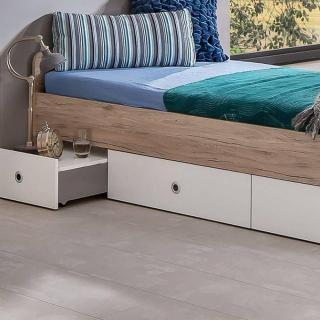 lits tiroirs rangement chambre literie lit multi fonction dory ch ne blanc avec chevet. Black Bedroom Furniture Sets. Home Design Ideas