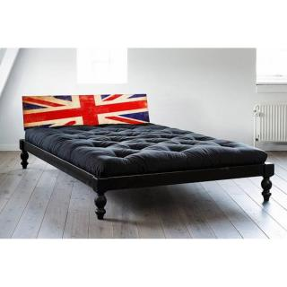 Lit O ROCK BED avec tête de lit imprimée London