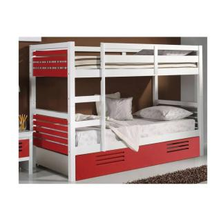 Lits superpos s chambre literie lit superpos marlone - Lit superpose blanc laque ...