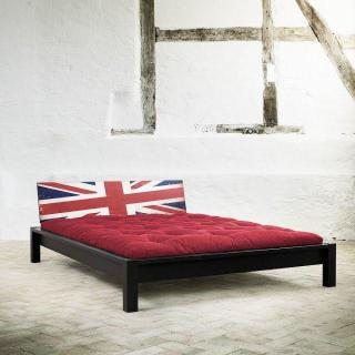 Lit TAMI BED avec tête de lit imprimée London