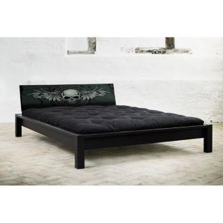 Lit TAMI BED avec tête de lit imprimée tête de mort
