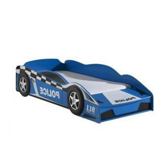 Petit lit voiture BERLINE bleu design police