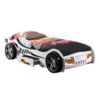 Lit voiture BERLINE turbo design blanc 1 tiroir