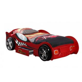 Lit voiture BERLINE turbo design rouge 1 tiroir
