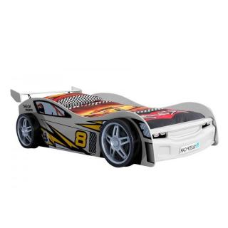 Lit voiture BERLINE night racer design blanc