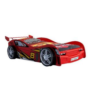 Lit voiture BERLINE night racer design rouge