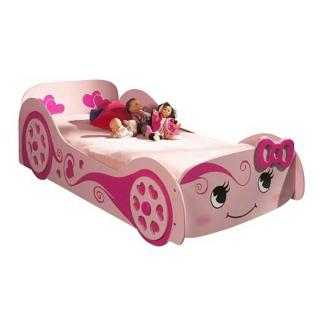 Lit voiture BERLINE design rose