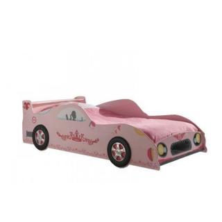 Lit voiture GAMMA design laqué rose