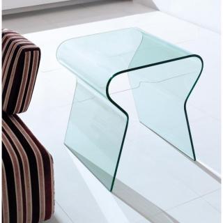 LOCK bout de canapé en verre transparent