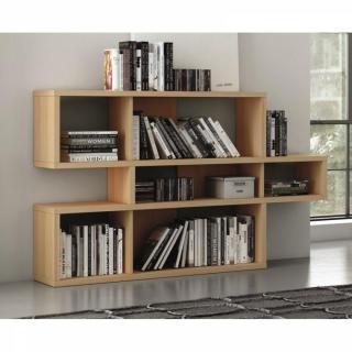 LONDON bibliothèque design chêne 3 niveaux