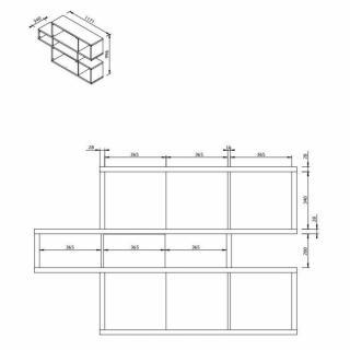 Tag res de s paration meubles et rangements temahome for Architecture a 3 niveaux