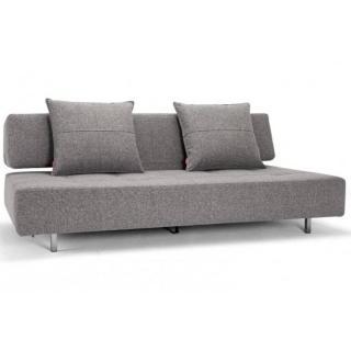Canapé mobile sur roulettes LONG HORN gris Twist Granite convertible lit 210*140 cm