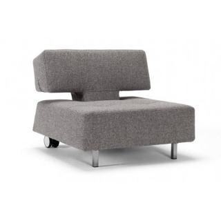Fauteuil mobile sur roulettes LONG HORN gris Twist Granite convertible lit 85*115cm