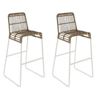 Lot de 2 chaises de bar scandinave BALLA