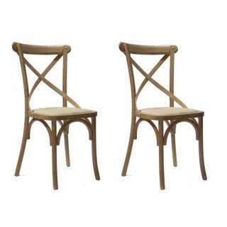 Lot de 2 chaises style bistrot FLORETTE