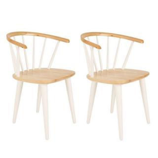 Lot de 2 chaises design GLEE blanche