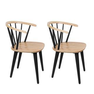 Lot de 2 chaises design GLEE noire