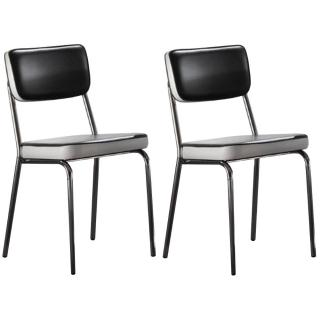 Lot de 2 chaises sixties HOLLYWOOD noire