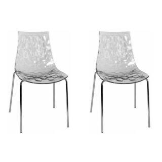 Lot de 2 chaises design ICE  transparente