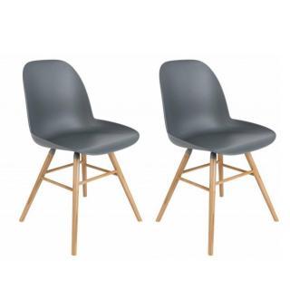 Lot de 2 chaises design scandinave ALBERT KUIP graphite