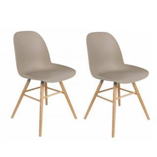Lot de 2 chaises design scandinave ALBERT KUIP taupe