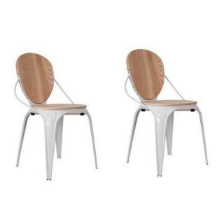 Lot de 2 chaises ZUIVER LOUIX blanche