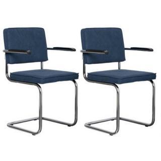 ZUIVER lot de 2 fauteuils RIDGE VINTAGE tissu